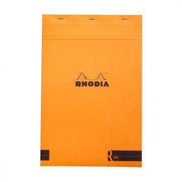 Bloc «R» N°19 Memo Pad:  Rhodia Bloc «R» pads have the same clever design than classic Bloc pads, but comes with premium-materials. The...