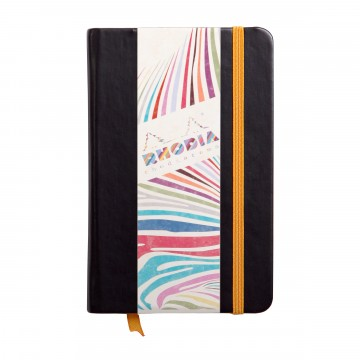 Rhodiarama A6 Notebook:  The Italian leatherette covers of Rhodiarama notebook feel peleasant and have certain grip to it, so it stays firmly...