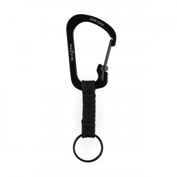SlideLock® - Avaimenperä:  Tämä ruostumattomasta teräksestä valmistettu karabiineri on yhdistetty avainlenkkiin lyhyellä nylonhihnalla, joka...