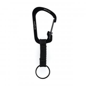 SlideLock® Key Ring:  The stainless steelcarabiner is joined by a short nylon strap to keep your keys separate but connected. The...