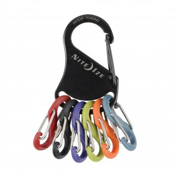 KeyRack™ S-Biner®:  The KeyRack is functional and compact key organizer. The stainless steel carabiner has a secure gate closure on end,...