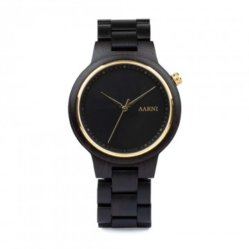 XO Ebony Watch:   The clean design of Aarni XO watch pays respect to nature and classic lines. A slim case combined with   gold...