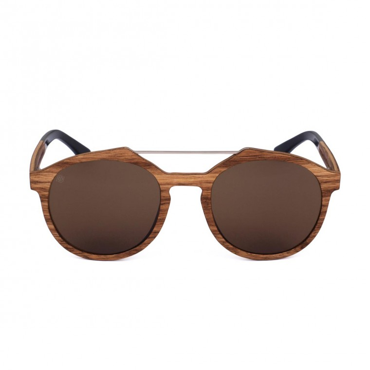 Aarni Cliff Zebrawood Sunglasses