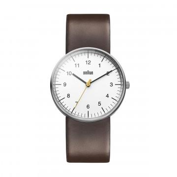 Classic BN0021 Brown/White - Rannekello:  BN0021 on ikoninen ja tunnusomainen Braun-rannekello. Minimalistinen kellotaulu keltaisella sekuntiviisarilla,...