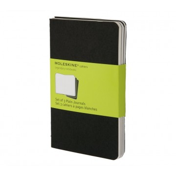 Cahier Journal Pocket 3-Pack:  Moleskine Cahier is lightweight and flexible journal with heavy-duty cardboard covers and visible stitching on the...