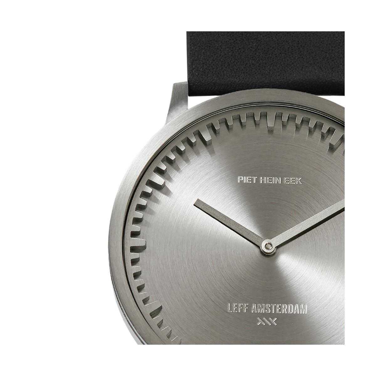 8f8b80a14 Leff Amsterdam Tube Watch T40 Steel / Leather - Mukama