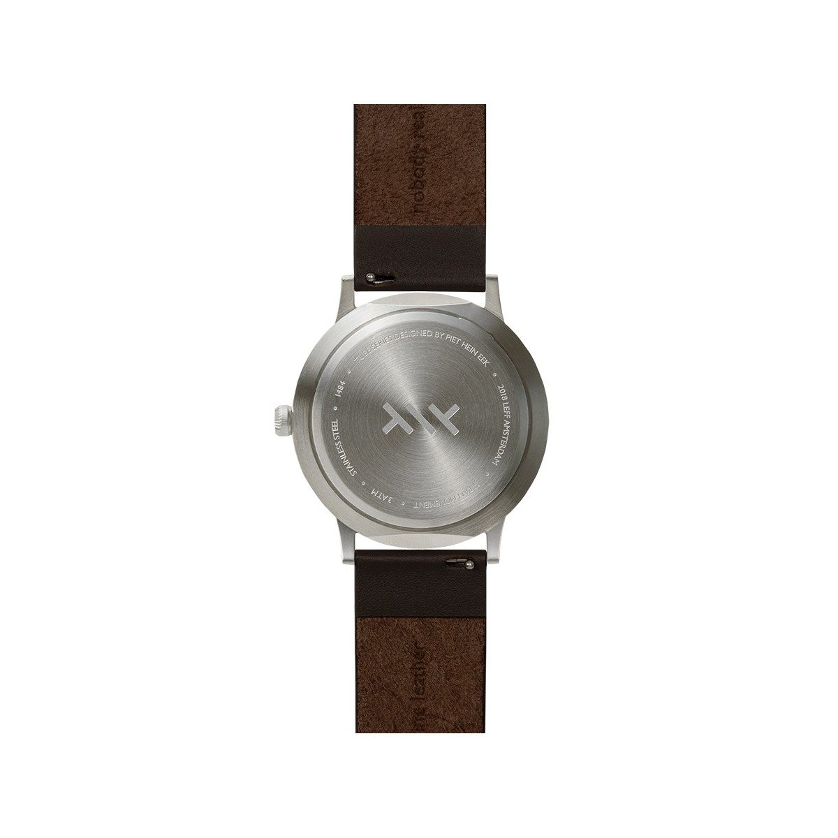 a63d81839 ... Leff Amsterdam Tube Watch T40 Steel / Leather Brown