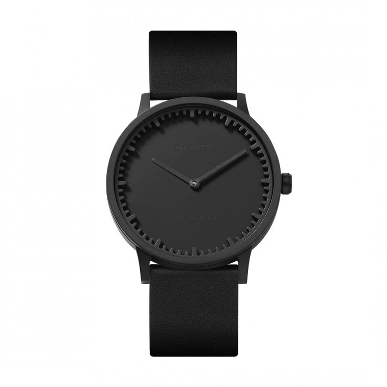 Leff Amsterdam Tube Watch T40 Black / Leather