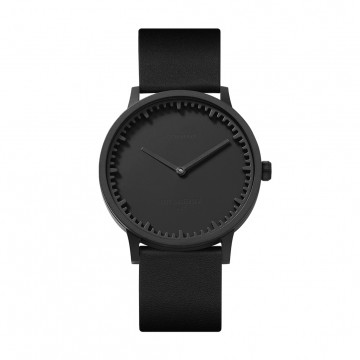 Tube Watch T40 Black / Leather:  This refined yet tough timepiece follows the Leff Amsterdam's raw and industrial style, and it's created together...