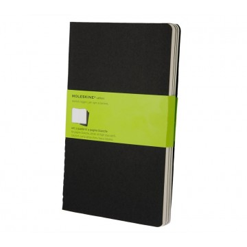 Cahier Journal Large 3-Pack:  Moleskine Cahier is lightweight and flexible journal with heavy-duty cardboard covers and visible stitching on the...