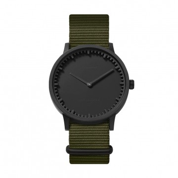 Tube Watch T40 Black / Nato:  This refined yet tough timepiece follows the Leff Amsterdam's raw and industrial style, and it's created together...