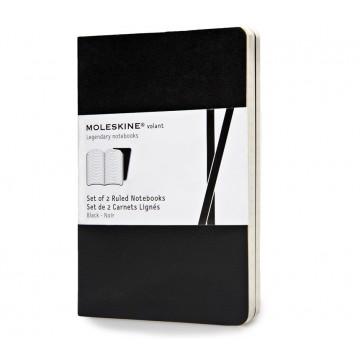 Volant Pocket 2-Pack - Muistivihko:  Moleskine Volant on kevyt ja joustava pehmeäkantinen muistivihko, jota on helppo kantaa mukana joka päivä. 16...