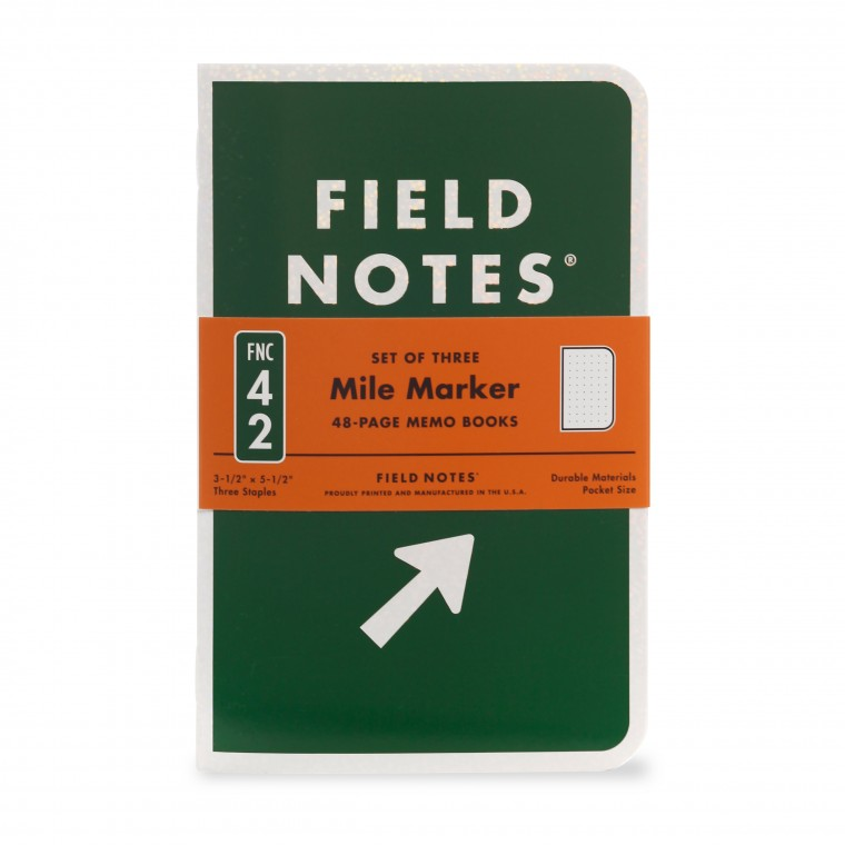 Field Notes Mile Marker 3-Pack - Muistivihko