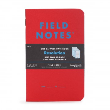 Resolution 3-Pack Memo Book:   Each Resolution 3-Pack of memo books includes one 56-page datebook and two 48-page checklist journals.   The...