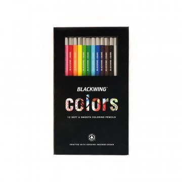Blackwing Colors 12-Pack:  Each Blackwing Colors pencil features a unique soft and smooth color core, designed specifically for coloring.The...