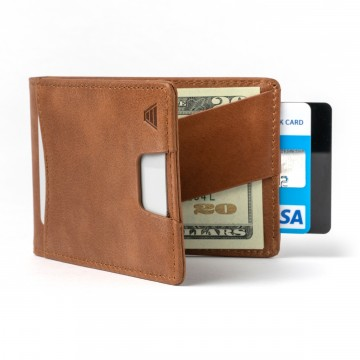 The Ranger Wallet:  The Ranger wallet allows easy and quick access to your everyday cards. The leather cash strap holds several bills...