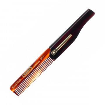 20T - Taitettava taskukampa:   Tästä ei paljoa gangsterimmaksi pääse.    20T on käsintehty 85 mm hienojakoinen taitettava kampa taskuklipsulla....