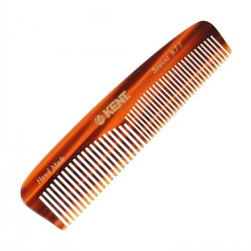 R7T Pocket Comb:  R7T is a handmade 130 mm coarse/fine pocket comb, made from large sheets of cellulose acetate rather than being...