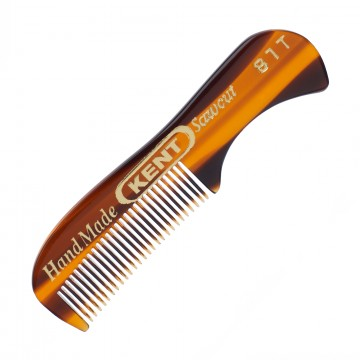 81T Beard Comb:  81Tis a handmade73 mmall fine beard and moustache comb, made from large sheets of cellulose acetate rather than...