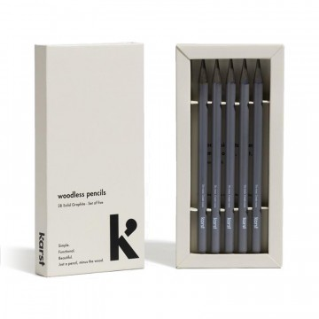 Woodless Pencils 5-Pack:  Following the same design principles as Karst notebooks, this 5-pack of solid graphite pencils was made to inspire...