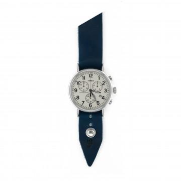 FFF × Timex Weekender Chronograph 40 Midday - Rannekello:   Timex Weekender Chronograph 40 Midday -rannekelloForm•Function•Form -nahkarannekkeella    Timex Weekender...