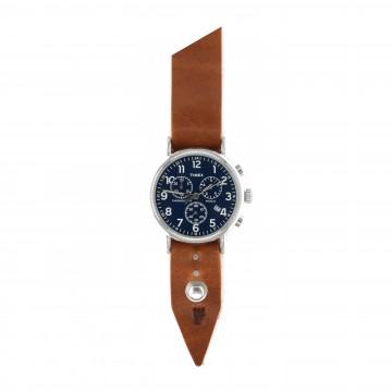 FFF × Timex Weekender Chronograph 40 Cobalt - Rannekello:   Timex Weekender Chronograph 40Cobalt -rannekelloForm•Function•Form -nahkarannekkeella    Timex Weekender...