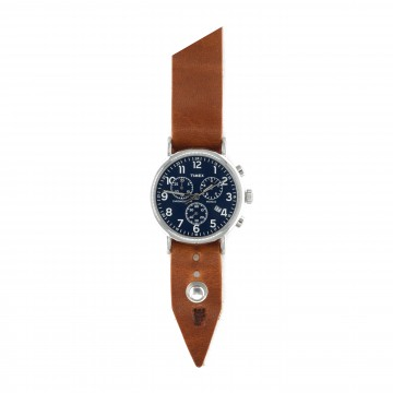 FFF × Timex Weekender Chronograph 40 Cobalt:   Timex Weekender Chronograph 40 mm Cobalt bundled with a custom Form•Function•Form leather strap  