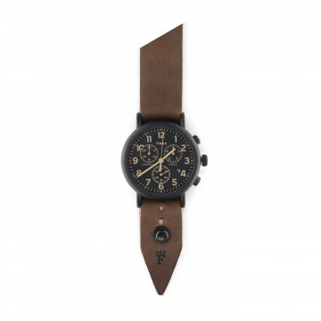 FFF × Timex Weekender Chronograph 40 Night:   Timex Weekender Chronograph 40 mm Night bundled with a custom Form•Function•Form leather strap  