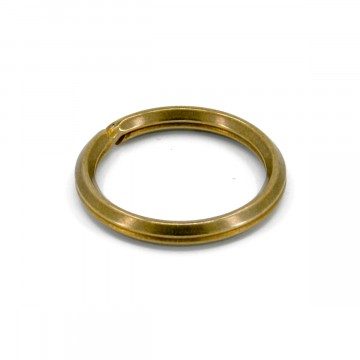 Wire Split Ring:  This wire split ring is made from solid brass wire by Japanese craftsmen. It's made by bending instead of pressing.