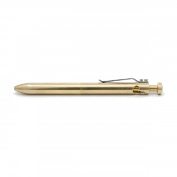 The Bolt V2 Brass Pen:   Durable bolt-action pen machined from brass    This is the updated version of the original Bolt, with usability...