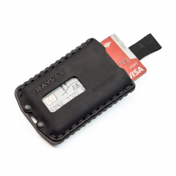 Ascent Wallet -   The Ascent has a single stainless steel plate, notched on both sides for a...