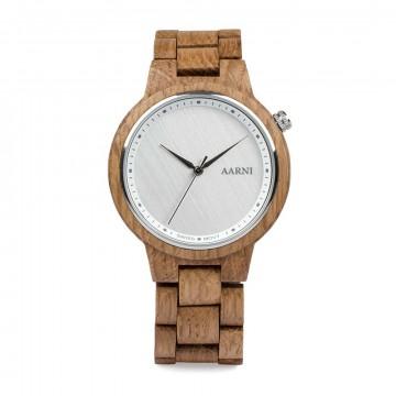 XO Tammi - Rannekello:  Tammesta valmistettu Aarni XO on näyttävä rannekello, jonka tiheät puunsyyt tuovat eloa kellon kovaan pintaan....