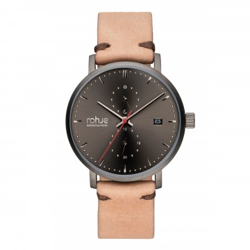 Adventurister Leather Dark Watch:  Inspired by Northern regions, Rohje Adventurister Leather Dark watch is the result of Finnish design and suits for...
