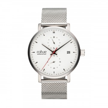 Adventurister Mesh White Watch:  Inspired by Northern regions, Rohje Adventurister Mesh White watch is the result of Finnish design and suits for all...