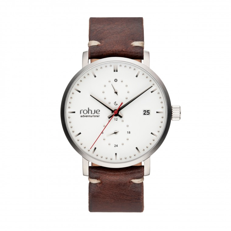 Rohje Adventurister Leather White Watch