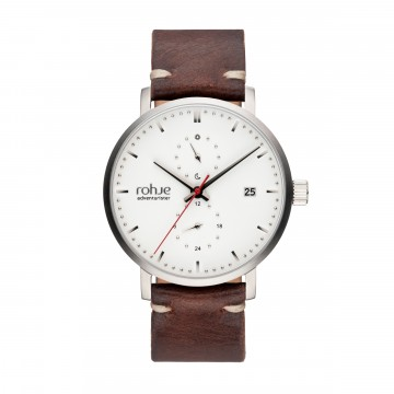Adventurister Leather White Watch:  Inspired by Northern regions, Rohje Adventurister Leather White watch is the result of Finnish design and suits for...