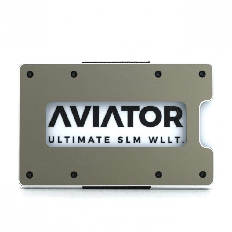 Aviator Aluminum  - Lompakko
