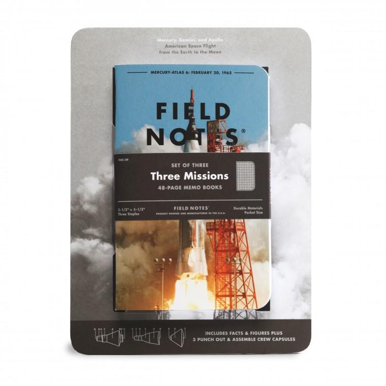 Field Notes Three Missions 3-Pack - Muistivihko