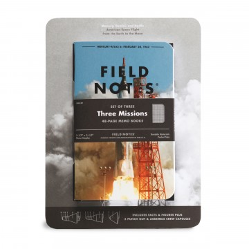 Three Missions 3-Pack Memo Book:  The Three Missions edition celebrates the space programs that got us there with three graph paper notebooks for your...