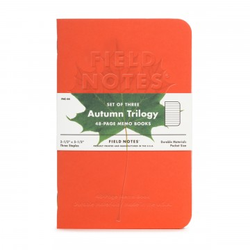 Autumn Trilogy 3-Pack Memo Book:  The Autumn Trilogy consists of three memo books with beautiful cover papers from Mohawk's Via line: Warm Red, Safety...