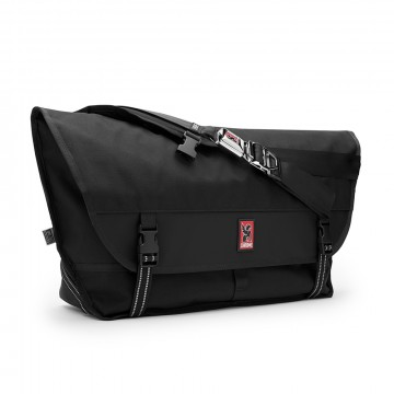 Metropolis Messenger Bag:  The largest Chrome messenger bag with quick-release seatbelt buckle.