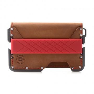 D01 Dapper Bifold - Lompakko:  D01 Dapper Bifold -lompakossa on kolmen taskun nahkainen bifold, joka on kiinnitetty alumiinirunkoon mil-spec...