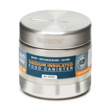Food Canister 237 ml Insulated:  Klean Kanteen® Food Canisters replace a lifetime of throw-away plastic/paper containers and bags. Great for storing...