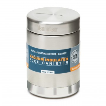 Food Canister 473 ml Insulated:  Klean Kanteen® Food Canisters replace a lifetime of throw-away plastic/paper containers and bags. Great for storing...