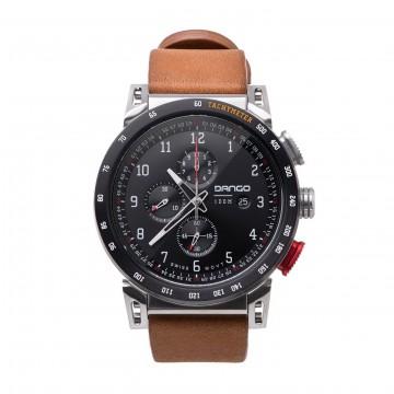CR-01 Chrono - Rannekello:  CR-01 Chrono-kellossa on 45 mm ruostumattomasta teräksestä valmistettu runko ja Horween-nahasta tehty ranneke....