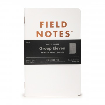 Group Eleven 3-Pack - Muistivihko:  Field Notes Group Eleven -erikoispainos on saanut nimensä kuparin, hopean ja kullan paikasta alkuainetaulukossa....