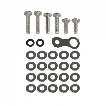 Hardware Set:  The Harware set for Keybar, includes the following:     (2) 1/2 in. stainless steel screws   (2) 3/4 in....