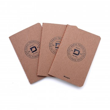 P01 Notebooks 3-Pack:  The Dango Notebooks are compact and durable for everyday carry. They are handmade with stitch binding for...