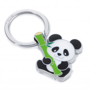 Bamboo Panda Key Ring:  Bamboo Panda keeps your keys safely together and makes your day a little funnier. Cast metal key ring is sturdy and...