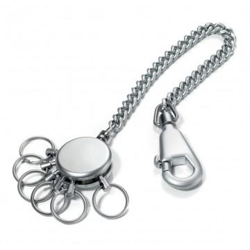 Patent Chain - Avaimenperä:  Mattaviimeistelty metallinen avaimenperä ketjulla ja irroitettavilla avainlenkeillä. Ketjun päässä on klipsu, jonka...